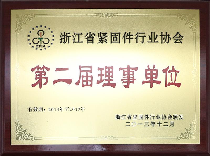 浙江省紧固件行业协会第二届理事单位